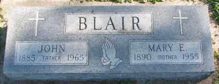 BLAIR, MARY E. - Dakota County, Nebraska   MARY E. BLAIR - Nebraska Gravestone Photos