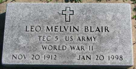 BLAIR, LEO MELVIN - Dakota County, Nebraska   LEO MELVIN BLAIR - Nebraska Gravestone Photos
