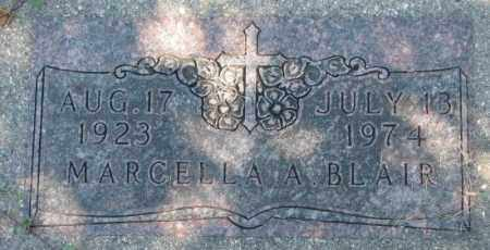 BLAIR, MARCELLA A. - Dakota County, Nebraska | MARCELLA A. BLAIR - Nebraska Gravestone Photos
