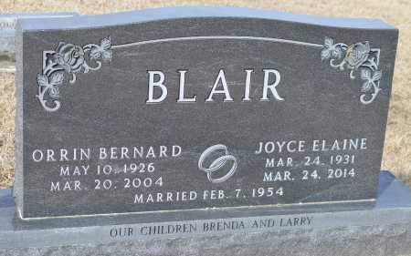 BLAIR, ORRIN BERNARD - Dakota County, Nebraska   ORRIN BERNARD BLAIR - Nebraska Gravestone Photos