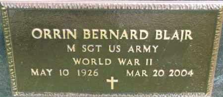 BLAIR, ORRIN BERNARD (WW II MARKER) - Dakota County, Nebraska   ORRIN BERNARD (WW II MARKER) BLAIR - Nebraska Gravestone Photos