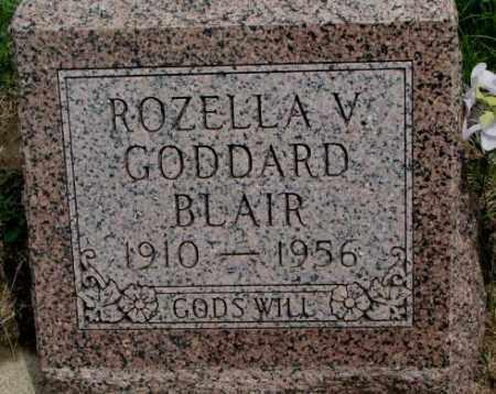 BLAIR, ROZELLA V. - Dakota County, Nebraska   ROZELLA V. BLAIR - Nebraska Gravestone Photos