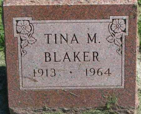 BLAKER, TINA M. - Dakota County, Nebraska   TINA M. BLAKER - Nebraska Gravestone Photos