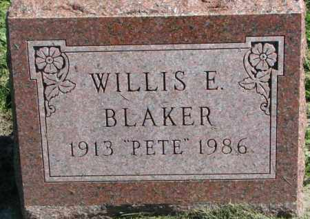 BLAKER, WILLIS E. - Dakota County, Nebraska | WILLIS E. BLAKER - Nebraska Gravestone Photos