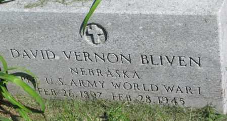 BLIVEN, DAVID VERNON - Dakota County, Nebraska | DAVID VERNON BLIVEN - Nebraska Gravestone Photos