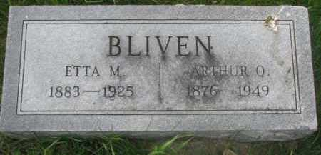 BLIVEN, ARTHUR O. - Dakota County, Nebraska | ARTHUR O. BLIVEN - Nebraska Gravestone Photos