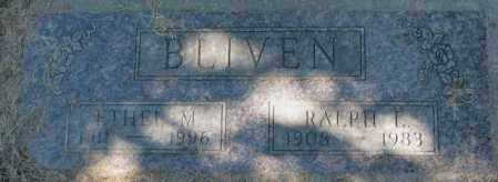 BLIVEN, RALPH E. - Dakota County, Nebraska | RALPH E. BLIVEN - Nebraska Gravestone Photos