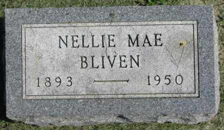 BLIVEN, NELLIE MAE - Dakota County, Nebraska   NELLIE MAE BLIVEN - Nebraska Gravestone Photos