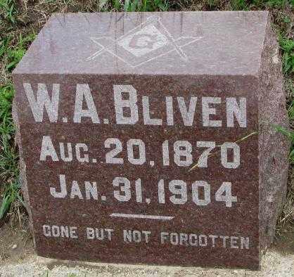BLIVEN, W.A. - Dakota County, Nebraska | W.A. BLIVEN - Nebraska Gravestone Photos