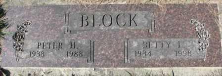 BLOCK, BETTY L. - Dakota County, Nebraska   BETTY L. BLOCK - Nebraska Gravestone Photos