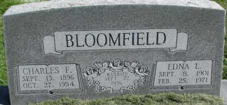 BLOOMFIELD, EDNA L. - Dakota County, Nebraska   EDNA L. BLOOMFIELD - Nebraska Gravestone Photos