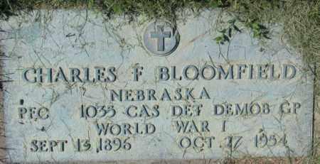 BLOOMFIELD, CHARLES F. (WW I MARKER) - Dakota County, Nebraska | CHARLES F. (WW I MARKER) BLOOMFIELD - Nebraska Gravestone Photos