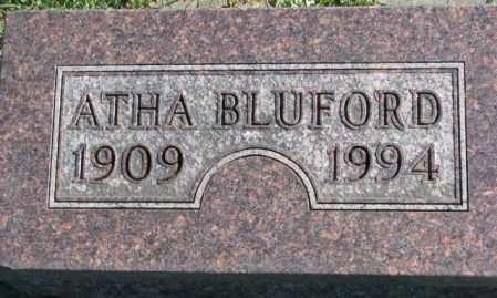 BLUFORD, ATHA - Dakota County, Nebraska | ATHA BLUFORD - Nebraska Gravestone Photos