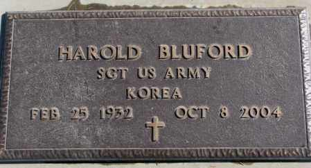 BLUFORD, HAROLD - Dakota County, Nebraska | HAROLD BLUFORD - Nebraska Gravestone Photos