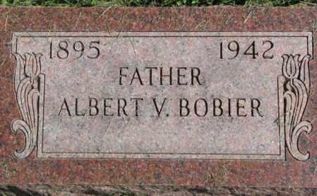 BOBIER, ALBERT V. - Dakota County, Nebraska   ALBERT V. BOBIER - Nebraska Gravestone Photos