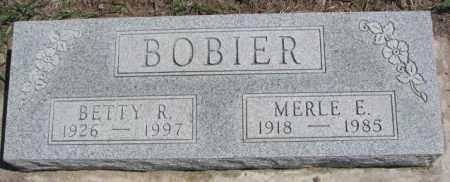 BOBIER, BETTY R. - Dakota County, Nebraska | BETTY R. BOBIER - Nebraska Gravestone Photos