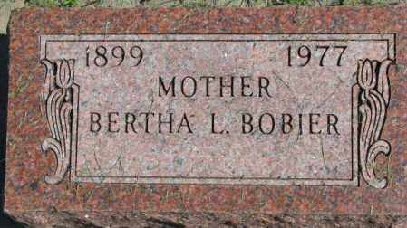 BOBIER, BERTHA L. - Dakota County, Nebraska   BERTHA L. BOBIER - Nebraska Gravestone Photos