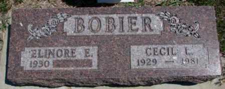BOBIER, ELINORE E. - Dakota County, Nebraska | ELINORE E. BOBIER - Nebraska Gravestone Photos