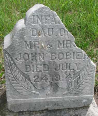 BOBIER, INFANT DAUGHTER - Dakota County, Nebraska | INFANT DAUGHTER BOBIER - Nebraska Gravestone Photos