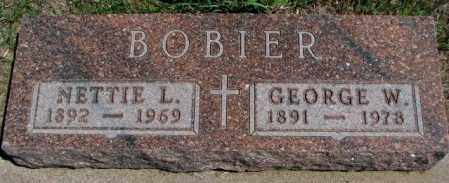 BOBIER, GEORGE W. - Dakota County, Nebraska | GEORGE W. BOBIER - Nebraska Gravestone Photos