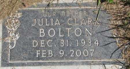 BOLTON, JULIA - Dakota County, Nebraska | JULIA BOLTON - Nebraska Gravestone Photos