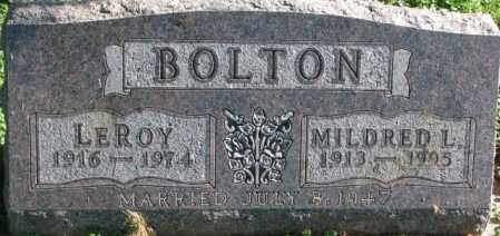 BOLTON, LEROY - Dakota County, Nebraska | LEROY BOLTON - Nebraska Gravestone Photos