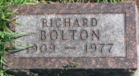 BOLTON, RICHARD - Dakota County, Nebraska | RICHARD BOLTON - Nebraska Gravestone Photos