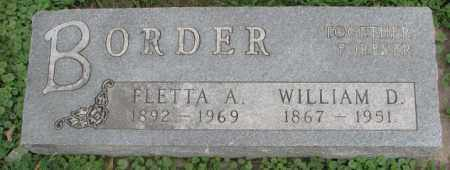 BORDER, FLETTA A. - Dakota County, Nebraska | FLETTA A. BORDER - Nebraska Gravestone Photos