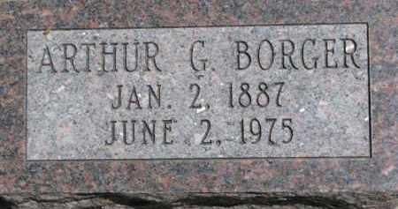 BORGER, ARTHUR G. - Dakota County, Nebraska | ARTHUR G. BORGER - Nebraska Gravestone Photos