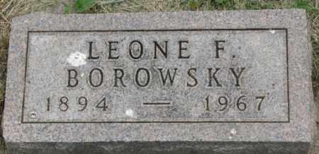 BOROWSKY, LEONE F. - Dakota County, Nebraska   LEONE F. BOROWSKY - Nebraska Gravestone Photos