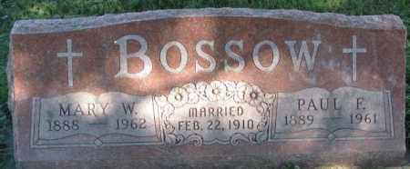 BOSSOW, MARY W. - Dakota County, Nebraska | MARY W. BOSSOW - Nebraska Gravestone Photos