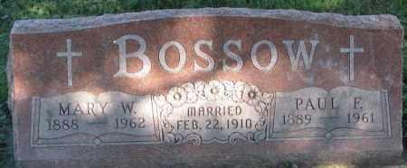 BOSSOW, PAUL F. - Dakota County, Nebraska | PAUL F. BOSSOW - Nebraska Gravestone Photos