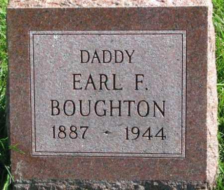 BOUGHTON, EARL F. - Dakota County, Nebraska   EARL F. BOUGHTON - Nebraska Gravestone Photos