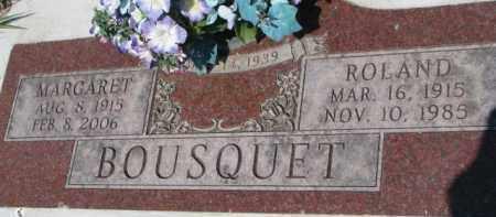 BOUSQUET, MARGARET - Dakota County, Nebraska | MARGARET BOUSQUET - Nebraska Gravestone Photos