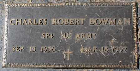 BOWMAN, CHARLES ROBERT - Dakota County, Nebraska   CHARLES ROBERT BOWMAN - Nebraska Gravestone Photos