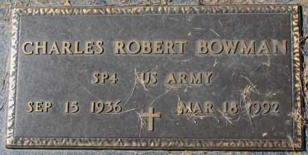 BOWMAN, CHARLES ROBERT - Dakota County, Nebraska | CHARLES ROBERT BOWMAN - Nebraska Gravestone Photos
