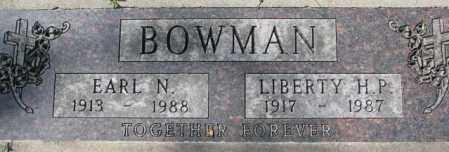 BOWMAN, LIBERTY H.P. - Dakota County, Nebraska | LIBERTY H.P. BOWMAN - Nebraska Gravestone Photos