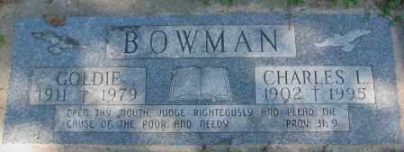 BOWMAN, CHARLES L. - Dakota County, Nebraska | CHARLES L. BOWMAN - Nebraska Gravestone Photos