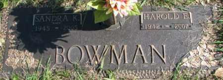 BOWMAN, SANDRA K. - Dakota County, Nebraska | SANDRA K. BOWMAN - Nebraska Gravestone Photos