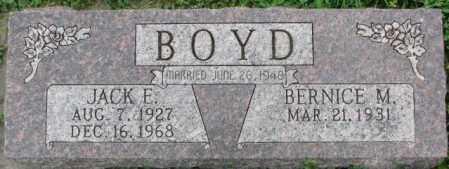BOYD, JACK E. - Dakota County, Nebraska | JACK E. BOYD - Nebraska Gravestone Photos