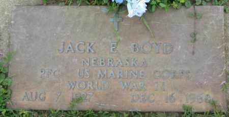 BOYD, JACK E. (WW II MARKER) - Dakota County, Nebraska   JACK E. (WW II MARKER) BOYD - Nebraska Gravestone Photos