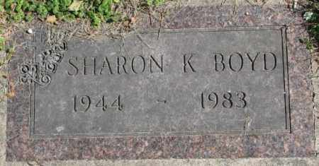 BOYD, SHARON K. - Dakota County, Nebraska | SHARON K. BOYD - Nebraska Gravestone Photos