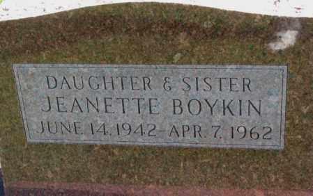 BOYKIN, JEANETTE - Dakota County, Nebraska   JEANETTE BOYKIN - Nebraska Gravestone Photos