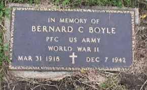BOYLE, BERNARD C. - Dakota County, Nebraska | BERNARD C. BOYLE - Nebraska Gravestone Photos