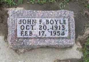 BOYLE, JOHN F. - Dakota County, Nebraska | JOHN F. BOYLE - Nebraska Gravestone Photos