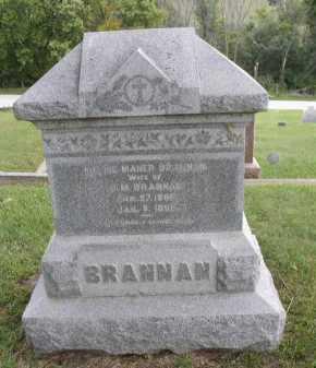 BRANNAN, MITTIE - Dakota County, Nebraska | MITTIE BRANNAN - Nebraska Gravestone Photos