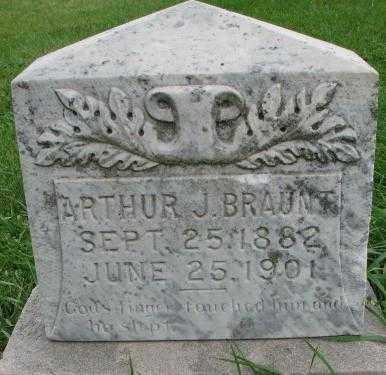 BRAUNT, ARTHUR J. - Dakota County, Nebraska | ARTHUR J. BRAUNT - Nebraska Gravestone Photos