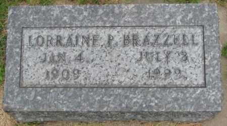 BRAZZELL, LORRAINE P. - Dakota County, Nebraska   LORRAINE P. BRAZZELL - Nebraska Gravestone Photos