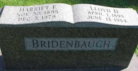 BRIDENBAUGH, HARRIET F. - Dakota County, Nebraska | HARRIET F. BRIDENBAUGH - Nebraska Gravestone Photos