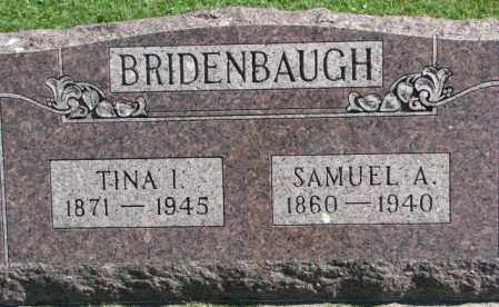 BRIDENBAUGH, SAMUEL A. - Dakota County, Nebraska | SAMUEL A. BRIDENBAUGH - Nebraska Gravestone Photos